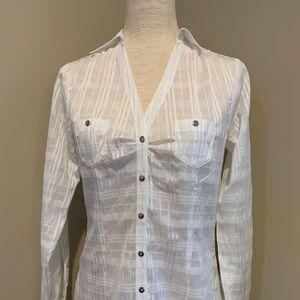 WHITE HOUSE/BLACK MARKET White Button-Down Shirt